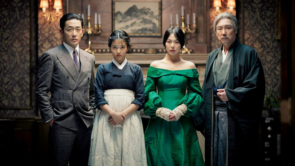 Fujiwara (Ha Jung-woo), Sook-hee/Tamako (Kim Tae-ri), Hideko (Kim Min-hee) e Kouzuki (Cho Jin-woong)
