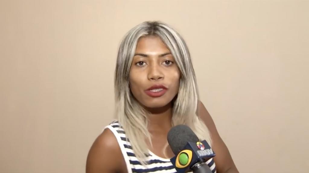 Entrevista de Leona para o programa Cidade Contra o Crime, da RBATV